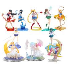 8'' 20cm Figuarts ZERO super sailor moon anime Sailor mars Mercury Jupiter Venus 1/8 PVC Action Figure Collectible Model toys