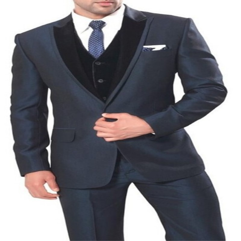 Groom's Dress Dark Grey Maxi Dress New Arrival Arrival Best Man Wedding / Dinner Set Best Men Groom (coat + Pants + Vest) 568