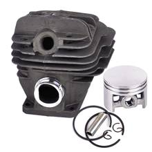 Letaosk 44mm cilindro pistão anel kit apto para stihl 026 ms260 motosserra 1121 020 1217 acessórios