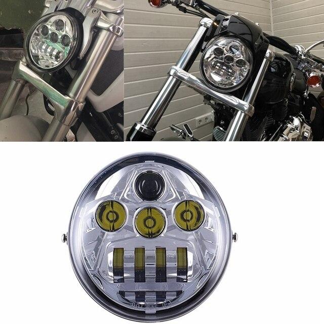 for harley davidson v rod motorcycle vrod led headlight. Black Bedroom Furniture Sets. Home Design Ideas