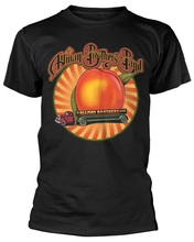 Family T Shirts MenS Crew Neck Print Short Sleeve The Allman Brothers Band Peach Lorry Tee