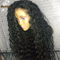8A Malaysian Curly Human Hair Full Lace Wigs for Black Women Glueless Virgin Lace Front Wigs With Baby Hair Full Front Lace Wigs