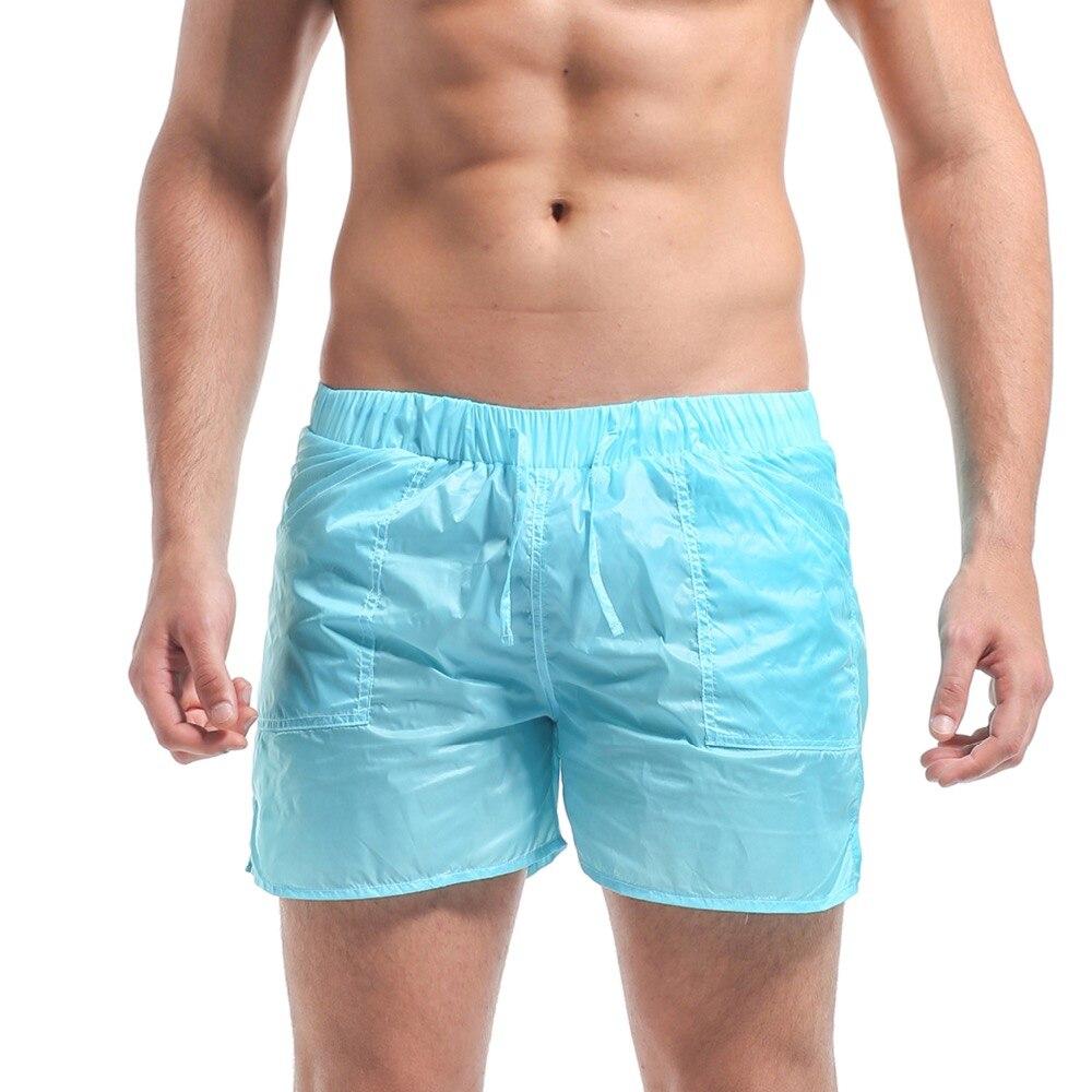 Mens Solid Short Super Thin Transparency Board shorts Beachwear Holiday Sports Surfing & Beach
