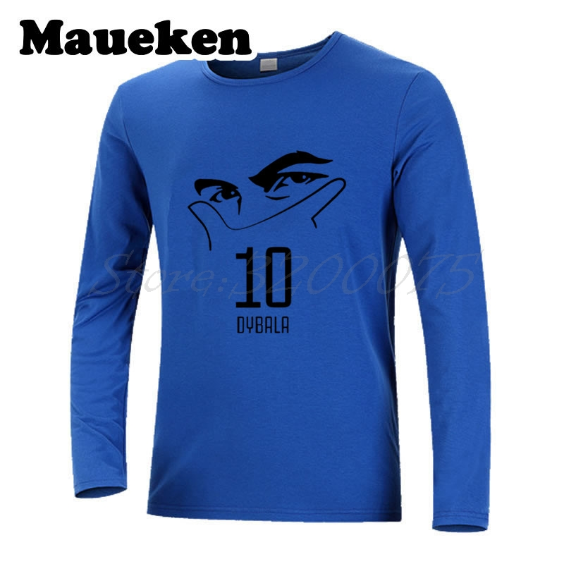 new product 8f30e ac1be US $21.88 |Men Autumn Winter Argentina Paulo Dybala #10 mask gestures La  Joya T Shirt Long Sleeve Clothes T SHIRT Men's W17080703-in T-Shirts from  ...