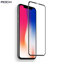 4D Curved Full Tempered Glass Screen Protector For IPhone X ROCK 0 26MM High Quality Hard