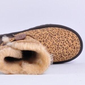 Image 4 - Miyaginaトップ品質の本物の羊革雪のブーツ毛皮の防水女性のブーツ暖かいウールの冬の靴