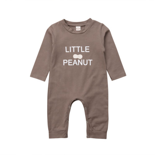 Casual Newborn Infant Baby Girl Boys Cotton Little Peanut Romper Jumpsuit Long Sleeves Autumn Playsuit Clothes Outfits o to 18M newborn baby bodysuit infant jumpsuit overall summer 100% cotton short sleeves o neck boy girl romper clothes set