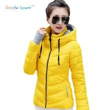 Colorful Apparel 2016 Winter Jacket Women Parka Winter Outerwear Plus Size Down Coat Short Slim Design Cotton-padded Jackets