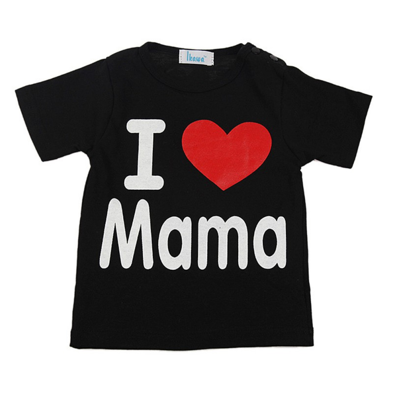 2017 Summer Baby Boys And Girls Short Sleeve T-shirt Kids Clothes Letter Printed 2 Color Infant Tops 7-25M S2