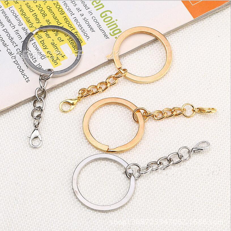 20pcs/lot Metal Key Rings Key Chains with Lobster Clasps Gold/Rhodium Color Tone Keyrings Split Rings KeyChains Wholesale Z434 metal key chains rings holder for car keyrings keychains for man high quality gift for bmw audi volkswagen ford honda cy741 cn