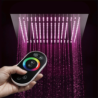 HIDEEP Bathroom Rain Showerheads Rainfall Remote Control LED Light Square 16 Embedded Ceiling Mounted Shower Head SUS304