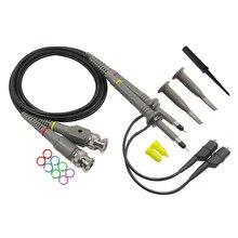 P6100 2 pçs osciloscópio sonda kit DC-100MHz escopo clipe de teste sonda 100mhz para tektronix hp x1/x10 onda osciloscopio atacado