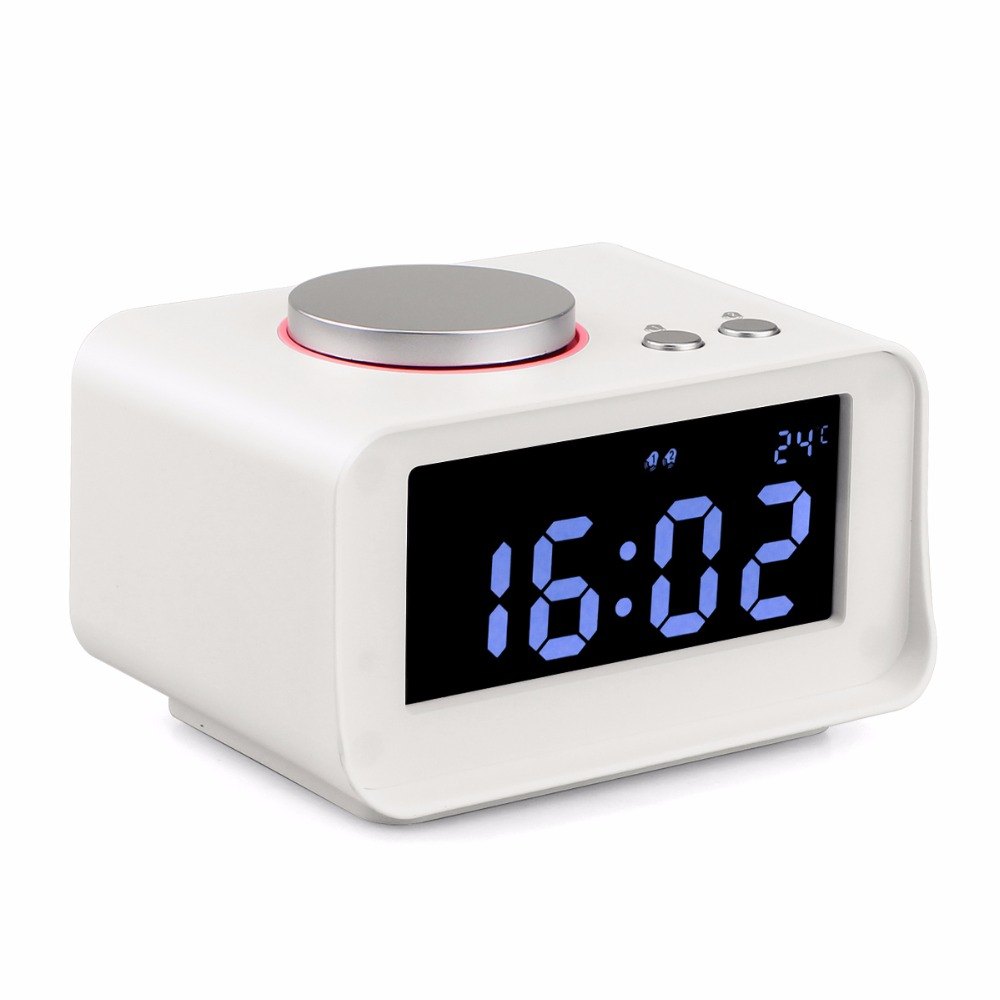 Beau Aliexpress.com : Buy Tabletop Digital Dual Clock Radio FM Thermometer  Snooze Alarm Clock Radio With LCD Display Phone USB Charger Speaker Y4434B  From ...