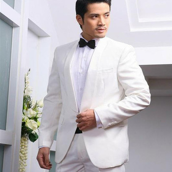 2017 costume homme shawl collar suits costumes male chorus singer white mens stage clothes Wedding suit Tailor (Jacket+pants)