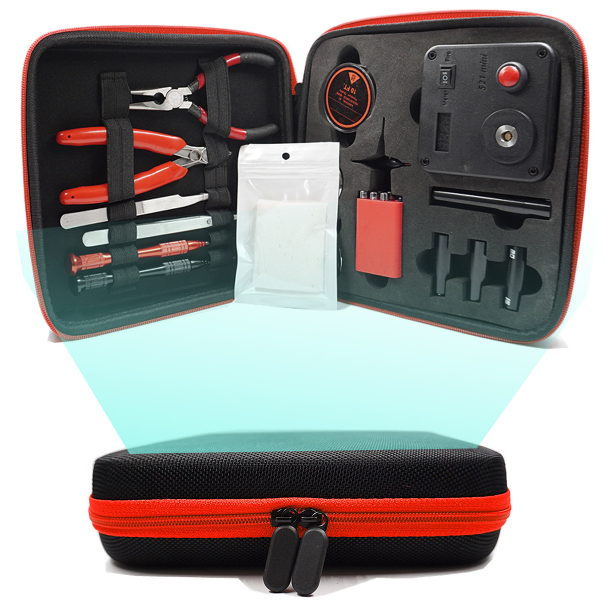 Household Tool Set Update Coil Master V3 DIY Kit All-in-One CoilMaster V3+ Electronic Cigarette RDA Atomizer coil Accessories original geekvape 521 master kit v3 all in one kit with the most functional tools and accessories e cig vape 521 master kit v3
