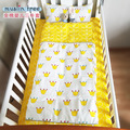 5 Color New Arrived Hot Cotton Printing Baby Bedding Set Include Pillow Case + Bed Sheet+Quilt Cover