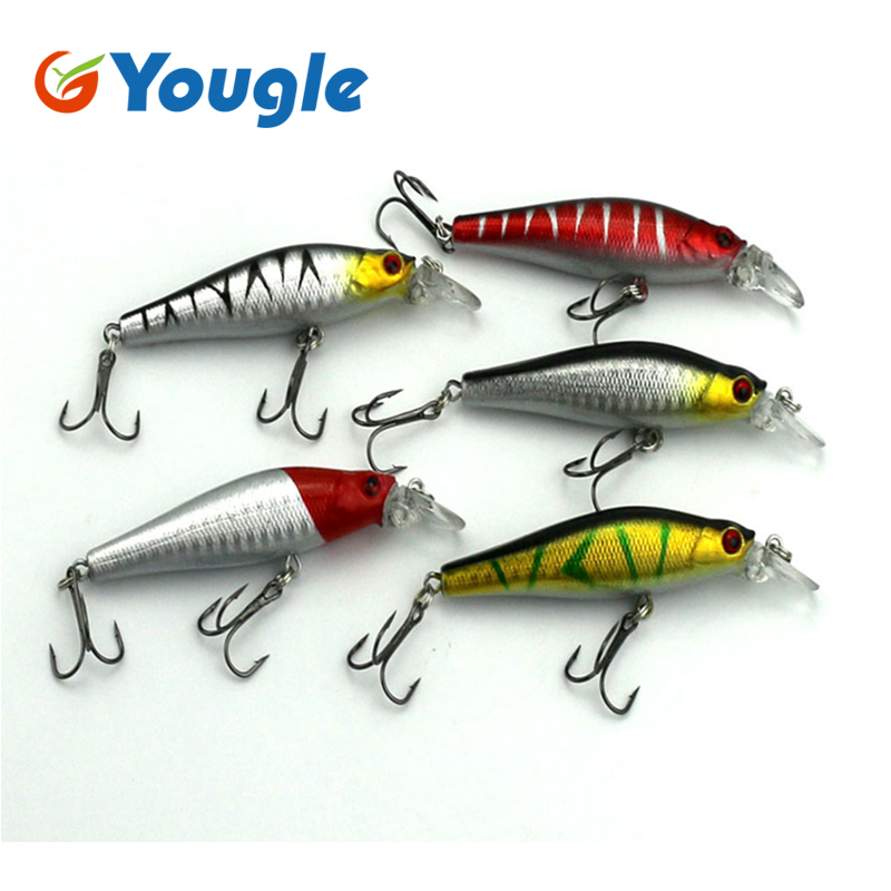 5pcs/Lot  8cm 7.9g Minnow Artificial Fishing Lure Lures Crankbait Fishing Tackle With Treble Hooks Fishing Bass Baits 1pcs high quality 5 4g 6cm fishing lures minnow crank bait crankbait bass tackle treble hooks fishing tackles hard baits pesca