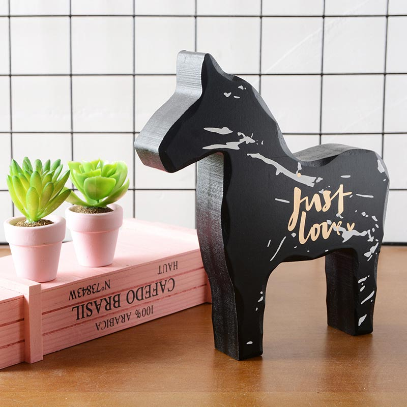 ><font><b>Style</b></font> Explosion Models Wooden Pony Decoration Crafts <font><b>Home</b></font> Office Art Desktop Decoration Extraordinary <font><b>Craftsman</b></font> Quality