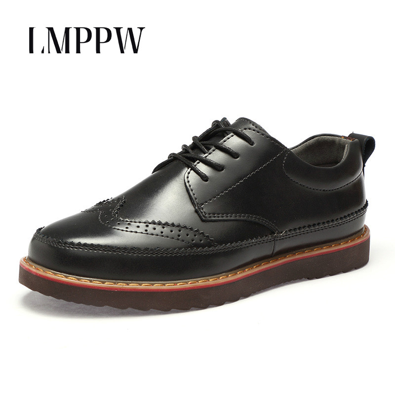 British Style Business Genuine Leather Casual Shoes Bullock Men's Shoes Brogue Men Dress Shoes Luxury Brand Men Flats Oxfords 2A desai brand genuine leather shoes men oxfords shoes british style carved brown brogue shoes lace up bullock business men s flats