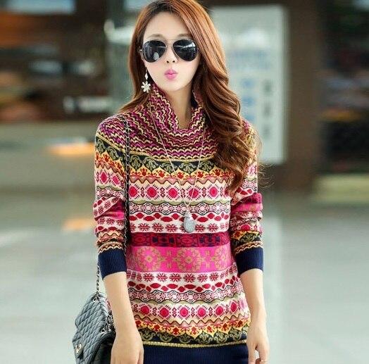 2016 Новая Мода утолщение основной свитер женский пуловер водолазка кашемир женщин свитер Плюс Размер свитер