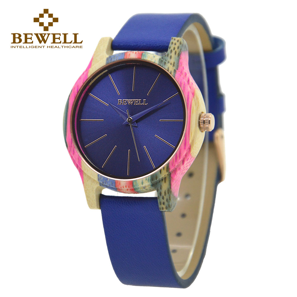 BEWELL Fashion Leather Wooden Women Watch relogio feminino Colorful Light Weight Ladies Wooden Watches Genuine Watch Gift 139ABEWELL Fashion Leather Wooden Women Watch relogio feminino Colorful Light Weight Ladies Wooden Watches Genuine Watch Gift 139A