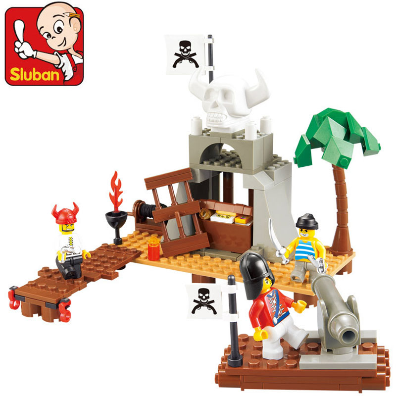 0278 Sluban Pirate Building Block Construction Brick Toys Figures Minifigures Educational Block Kids Toy Compatible With Lego