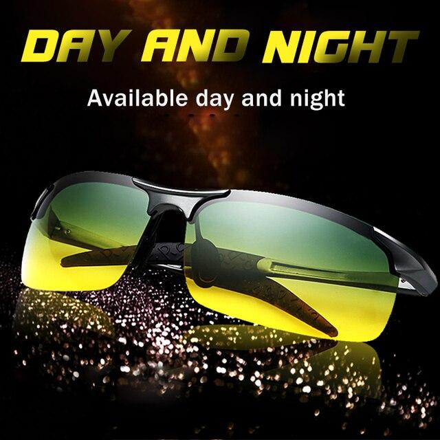 Lunettes de soleil unisexe polarisées UV400 pour la conduite, de jour et de nuit, Anti éblouissement masculin et femme, pour la conduite