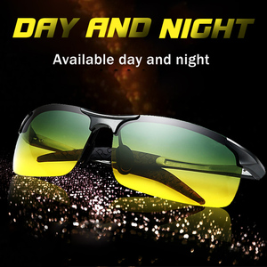 Image 1 - Unisex polarized sunglasses Men Driving Day Night Glasses Male Anti glare UV400 Eyewear Women Driver Glasses gafas oculos de sol