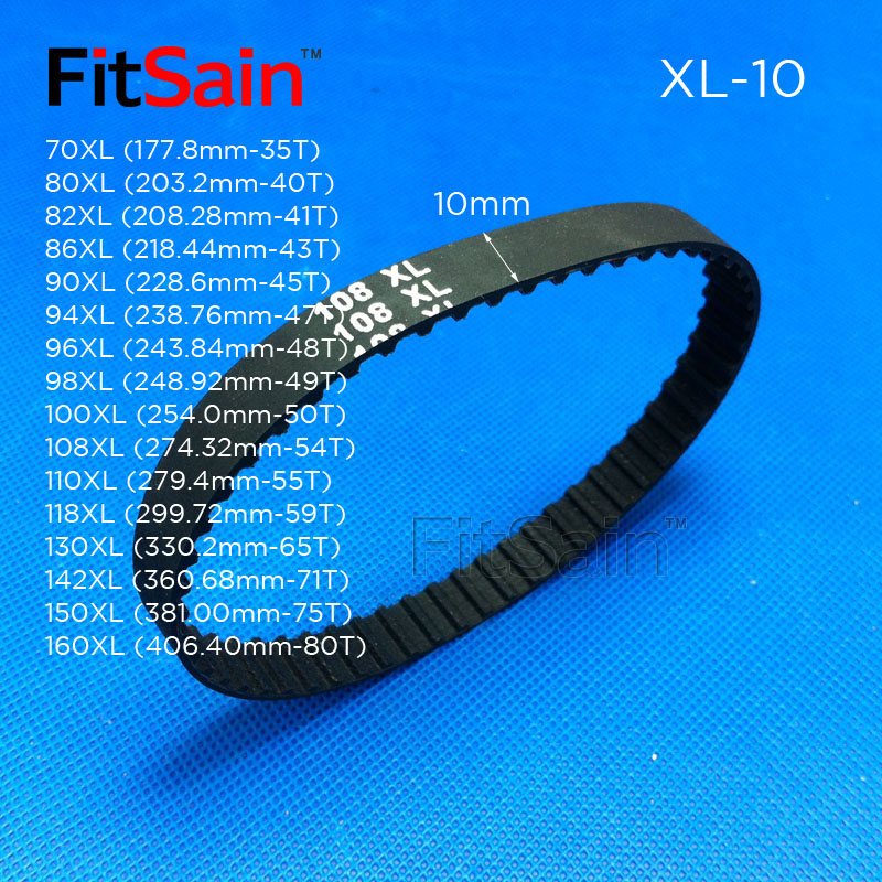 sourcing map 70XL Rubber Timing Belt Synchronous Closed Loop Belt Timing Pulley Tools 10mm Width