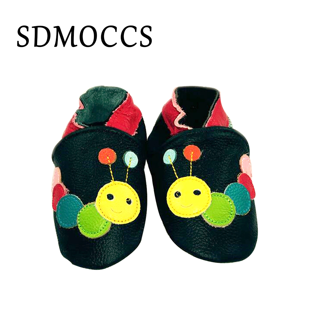 SDMOCCS Brand Genuine Leather Baby Shoes Newborn Baby Boys Girls First Walker Soft Infants Crib Shoes Sneakers For 0-24Month