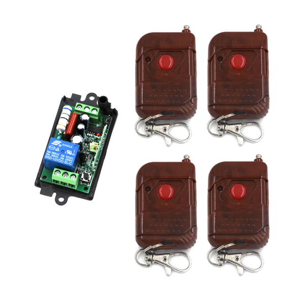 1 Channel AC 110V 220V 10A RF Wireless Remote Control Switch 1 Receiver + 4 Transmitter SKU: 5335 ac 220v 1channel 10a rf wireless remote control switch system 4 receiver