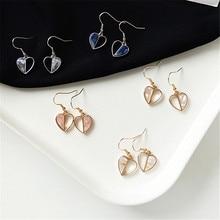 Fashion earrings geometry love heart Contrast color earrings personality Delicate earrings jewelry wholesale women's statement цена