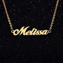 Personalized Name Necklace Custom English Fashion Jewelery Stainless Steel Pendant Gold