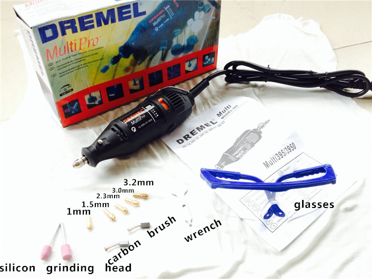 230V Electric Variable Speed Dremel Rotary Tools Mini Drill 180W High Power with 5 chucks and protective glasses hilda 400w mini electric drill with 6 position variable speed dremel rotary tools with flexible shaft and 94pcs accessories