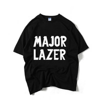 Major Lazer T Shirt Diplo Jillionaire Walshy Fire Electronic Music Band T Shirt Summer Men Women