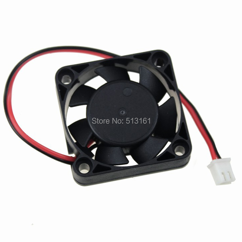 Купить с кэшбэком 5pcs/lot Gdstime 12V 2Pin Ball Bearing 40x40x10mm 40mm 4cm Mini DC Brushless Computer Cooling Fan