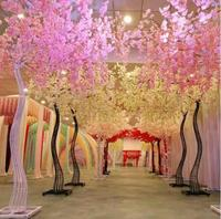 2018 New Arrival Wedding Props Road Cited Simulation Cherry Flower with Iron Arch Frame For Party Centerpieces Decoration