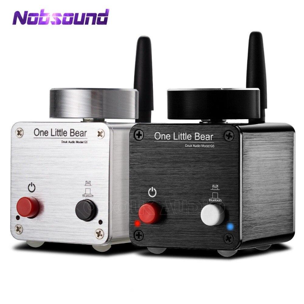 Nobsound Dernière Petit Ours G5 Mini-ampli Hi-Fi Bluetooth Numérique Amplificateur Ampli Audio Stéréo 50 w * 2 avec Alimentation