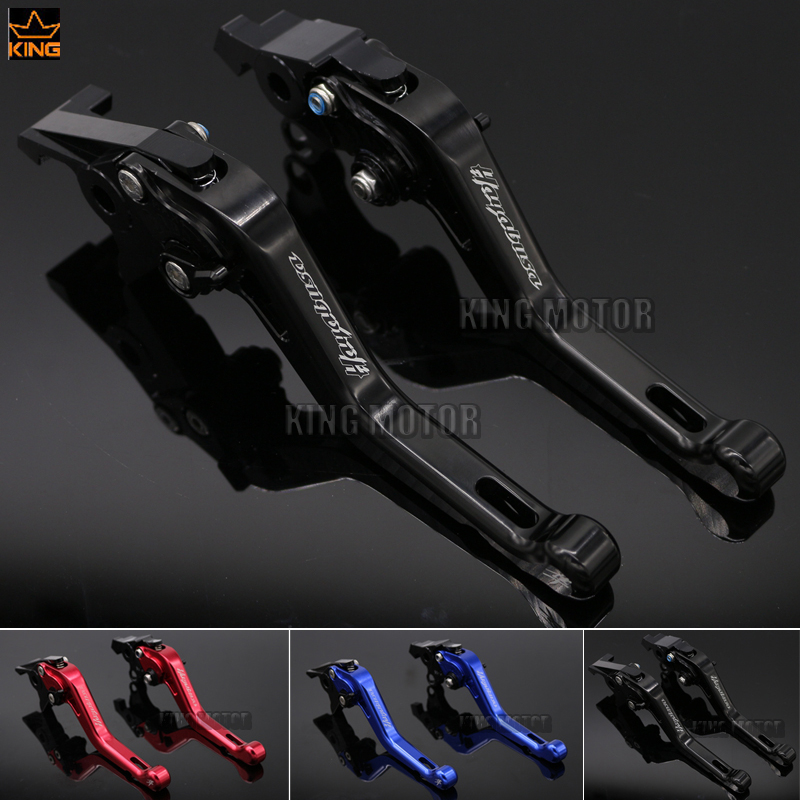 Hot Sale Motorcycle Accessories LOGO HAYABUSA For SUZUKI GSX1300R 1999-2007 Short Brake Clutch Levers Black black headlight for suzuki hayabusa 1300 gsx1300r 1999 2007 front brand new motorcycle clear light lamp from china