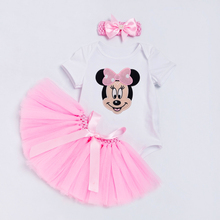 Cartoon Baby Set Girls Spring Summer Style Cotton Baby Romper Handmade tutu Skirt with Bow Pink Red Infant Toddler Baby Clothing rose skirt sets for girl clothing body pink bodysuit with ruffle tutu dress infant clothing summer seaside holiday 4pcs set