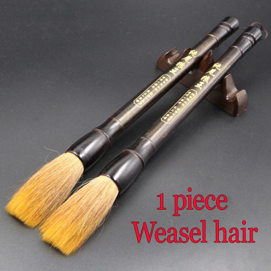 3pcs Big size Chinese Calligraphy Brushes weasel hair brush for artist painting calligraphy art supplies 3 pcs chinese calligraphy brushes weasel hair brushes pen for painting calligraphy artist supplies