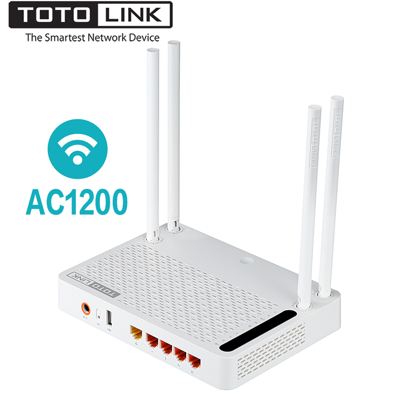 TOTOLINK A2004NS 1200 Mbps 2.4G/5.0 GHz Sans Fil Wifi Gigabit Routeur, 5dBi Antenne À Gain Élevé Sans Fil Wi-Fi répéteur, Multiples SSID