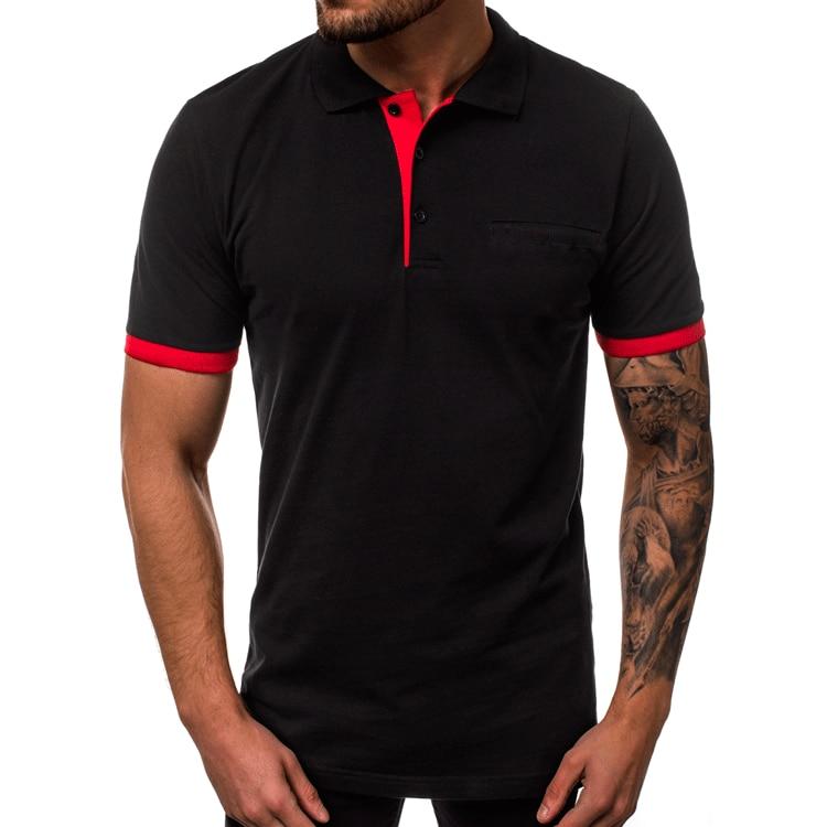 2019 Summer Fashion business Men   Polo   Shirt Men Cotton Short Sleeve shirt Brands jerseys Mens Shirts   polo   shirts Plus Size