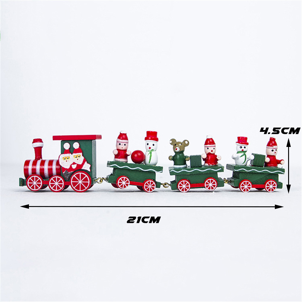 wood christmas xmas train decoration ornament wooden mini christmas decorative train model vehicle for kid s gift in pendant drop ornaments from home  [ 1001 x 1001 Pixel ]
