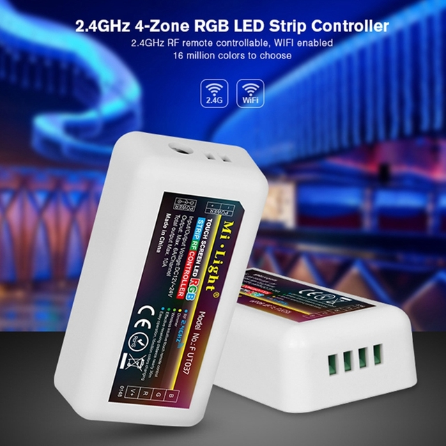 Milight LED Bulb light 2.4G RF Wireless RGB 4 Zone LED Controller Dimmer for RGB led strip light Mi.light bulb series
