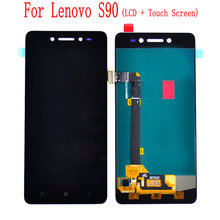 цена на Tested For Lenovo S90 LCD Display+Touch Screen Digitizer pannel Assembly With Frame Replacement S90-T S90-U S90-A  Free Tools