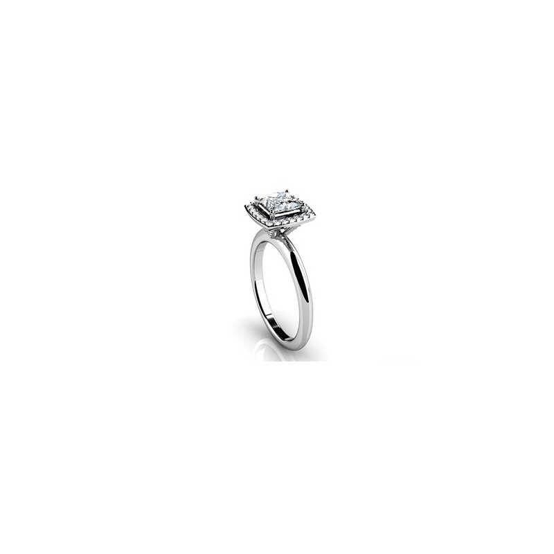 AINOUSHIหรูหรางานแต่งงานของแท้925เงินสเตอร์ลิงวง0.63กะรัตนะจำลองรัศมีแหวนสำหรับผู้หญิงหมั้น