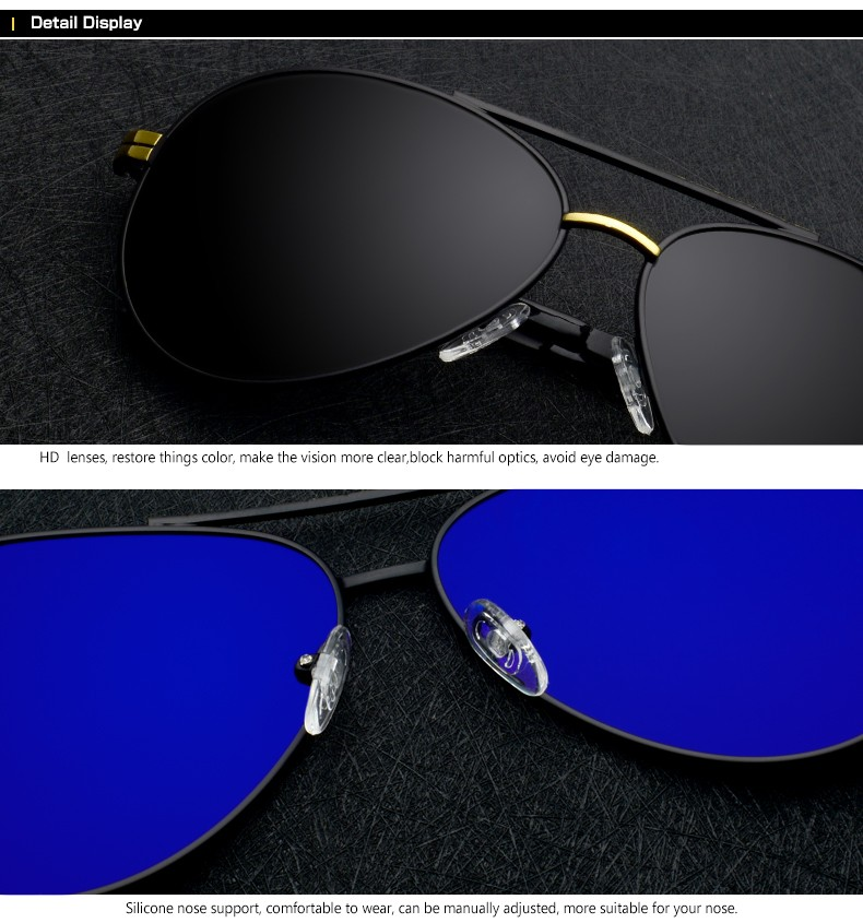 Pilot sunglasses Polarized With Box