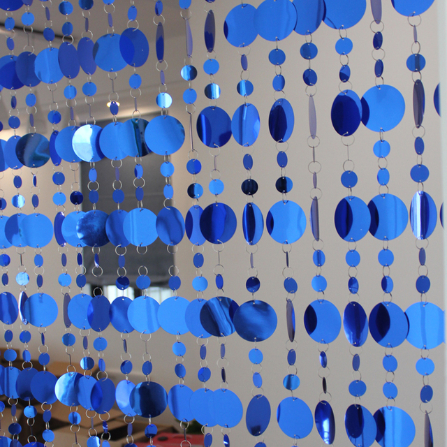 Geometric Sequined Design Curtain Stripes Set 5