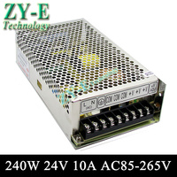 24V 10A 240w Switching led DC Power Supply non waterproof led driver for LED display screen block power Free shipping